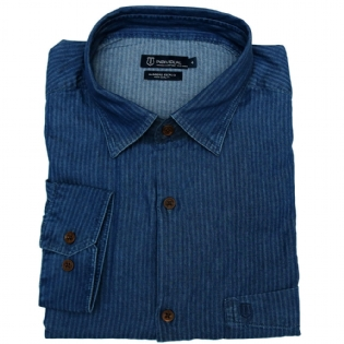 Individual Camisa Ml Comfort Jeans - 30203760002 Cor única